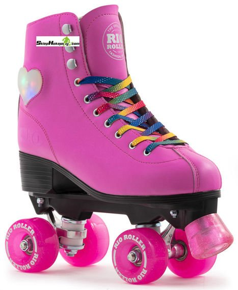 Wrotki Rio Roller Figure Lights ( PINK )